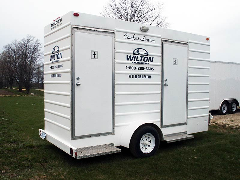 Wilton Sanitation Wedding Planning Restroom Trailer